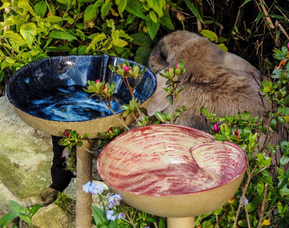 Anne lise poder c ramiques en ce jardin - Baignoire oiseaux jardin ...